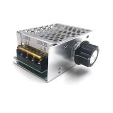 4000W 220V AC SCR Voltage Regulator Dimmer 220V Electronic Motor Speed Electric 220V Volt Regulator Dimmer Thermostat Regulator все цены