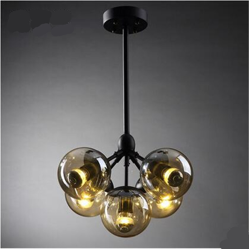 все цены на  Vintage Loft Industrial DNA Modo Glass lampshade Iron Pendant Light for Dining Room Restaurant Balcony Decor Lamps 1568  в интернете