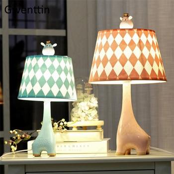 Cartoon Giraffe Table Lamp for Study Children\'s Bedroom Bedside Home Decor  Standing Desk Led Light Fixtures Kid Gifts Luminarias