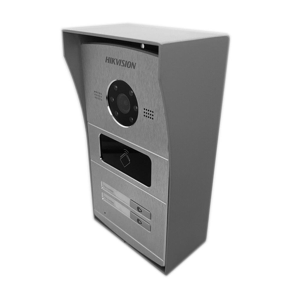 Hik Multi-idioma 1-4 botón IP timbre de la puerta teléfono Video intercomunicador Visual intercomunicador impermeable 13,56 MHz RFID tarjeta IP intercom - 3