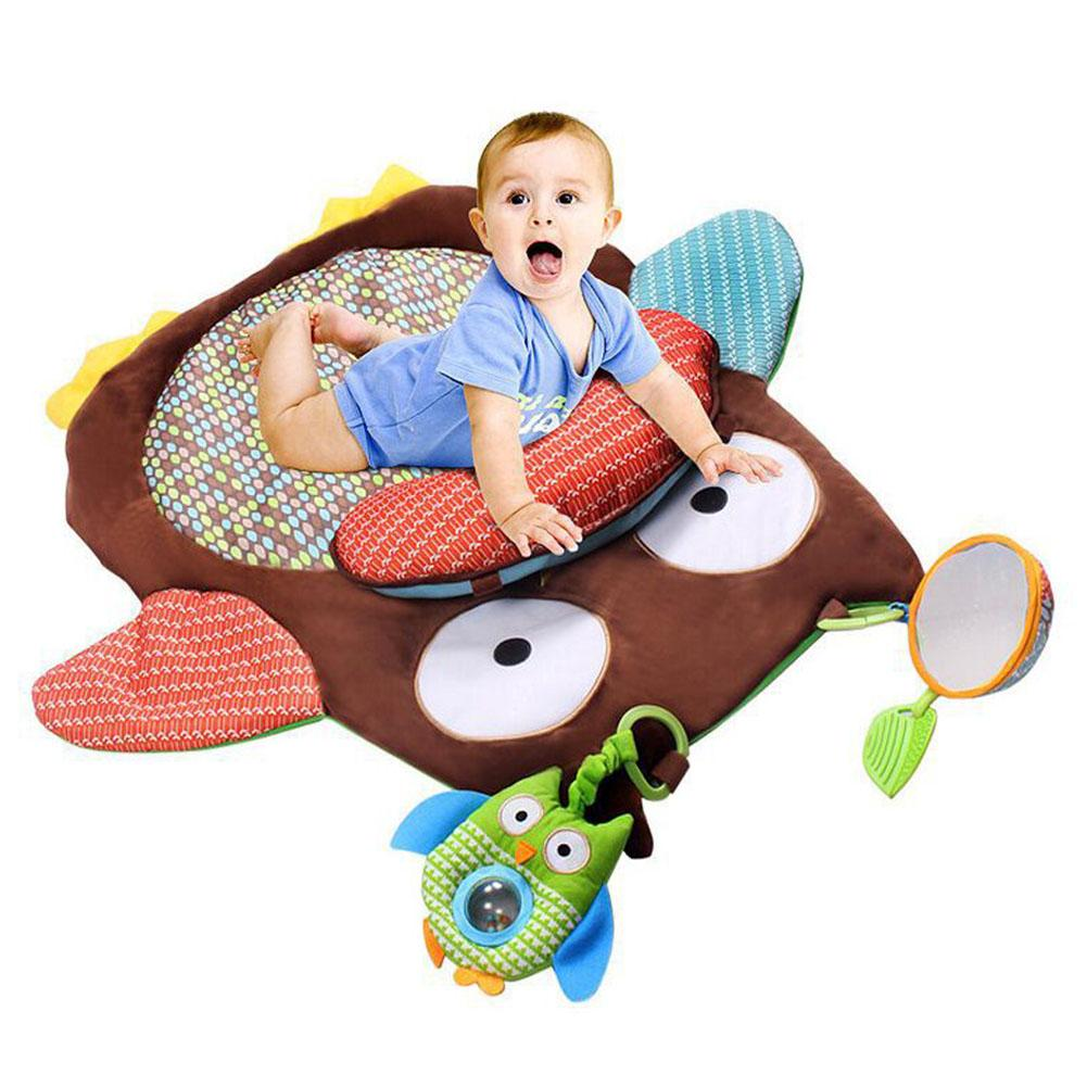 Kids Play Game Mats Owl Shaped Floor Mat Game Mat With Pillow Newborn Infant Crawling Blanket Floor Carpet Baby Room Decor цена 2017