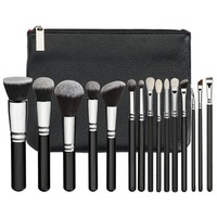 Brand Makeup Brushes Set Complete Luxury Cosmetic Tool 15 Rose Golden Brush Kit Blend Brush With