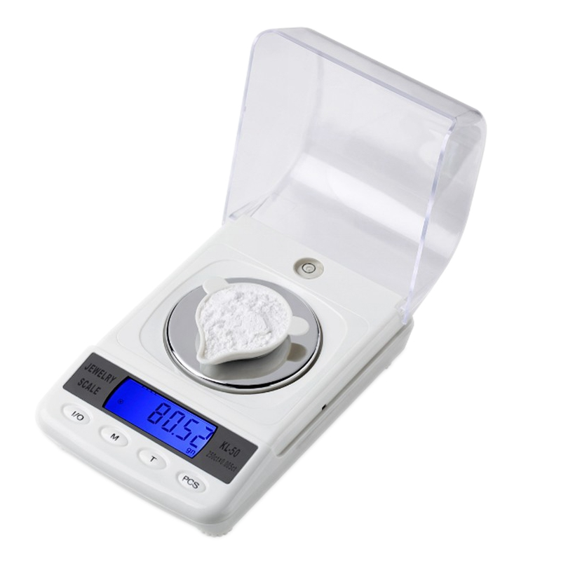50g 0.001g Precision Digital Jewelry Gem Powder Scales Electronic Diamond Milligram Scale Bench Weighing Balance Free Shipping high quality precise jewelry scale pocket mini 500g digital electronic balance brand weighing scales kitchen scales bs