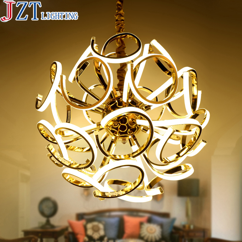 Z Post - Modern Luxury Villas LED Chandeliers Creative Silver/Gold Living Room Dining Room Study Of Spherical Personality Lamps z post modern luxury villas led chandeliers creative silver gold living room dining room study of spherical personality lamps