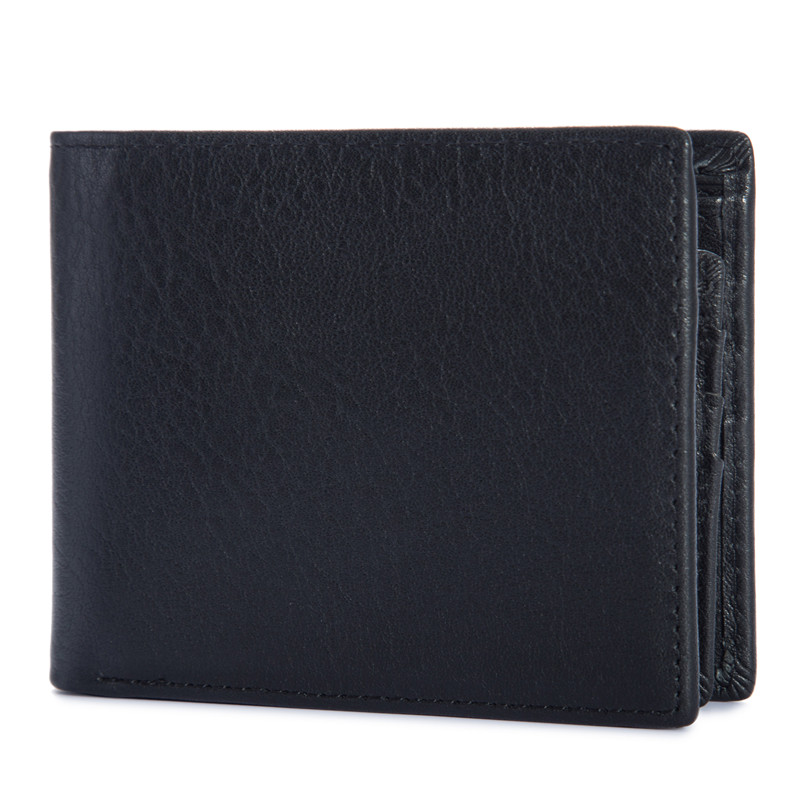 2018 NEW Men's Retro Crazy Horse Genuine Leather Short Wallet Big Capacity Credit ID Card Photo Coin Holder Purse Wallet B199 40 never leather badge holder business card holder neck lanyards for id cards waterproof antimagnetic card sets school supplies