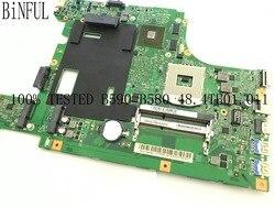 Envoi rapide, fonctionne bien. LA58 11273-1 48.4TE01.011 carte mère d'ordinateur portable pour LENOVO B590 ,HM77,GPU GT720M 1GB (nouvel article)