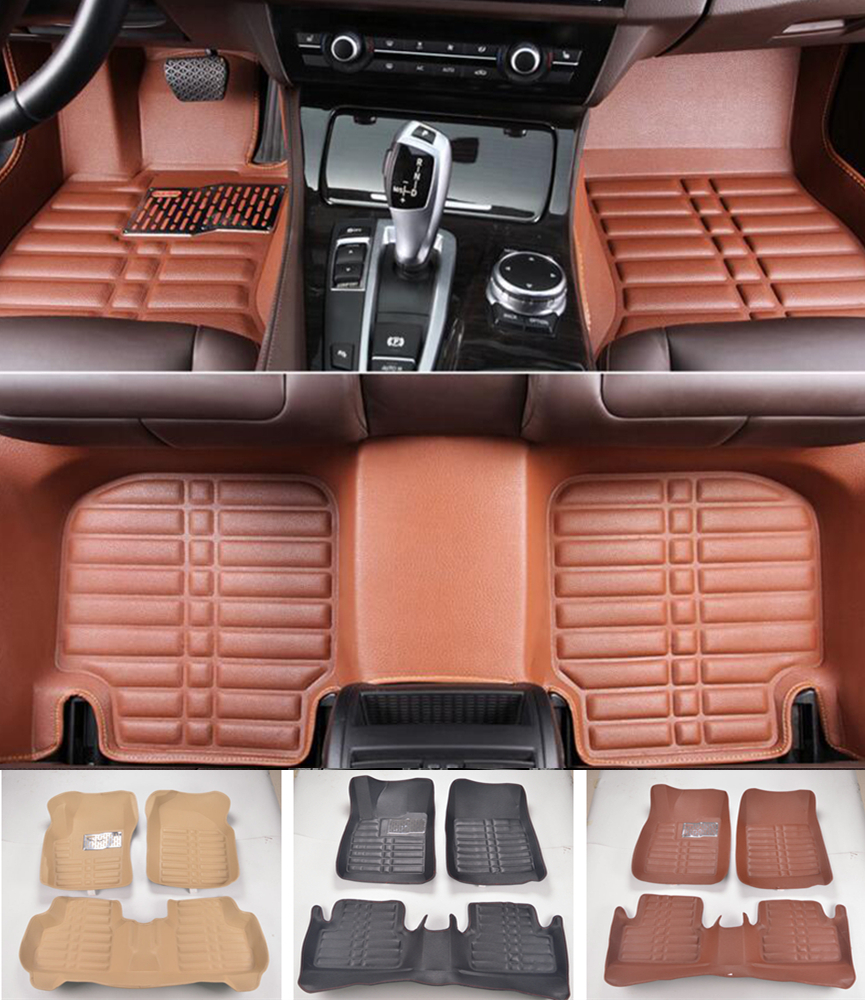 Custom Fit Car Floor Mats Front & Rear Waterproof For Buick LaCrosse 2016 2017 All Weather Car-styling Carpet rugs Floor Liners