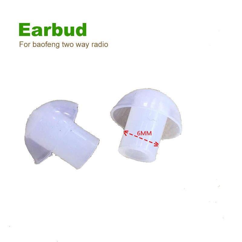 bilder für 50 stücke ersatz silikon ohrhörer ohrstöpsel für baofeng zweiwegradio akustische rohr ohrhörer luftschlauch headset
