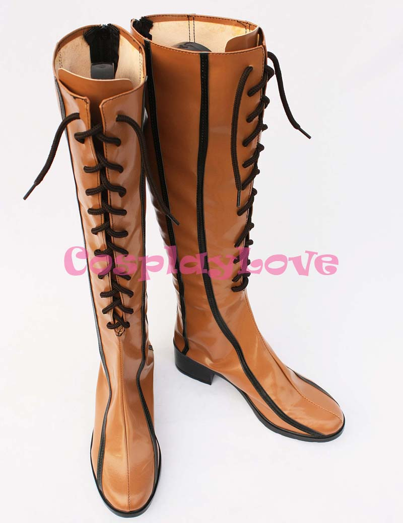 Custom Made Japanese Anime Vocaloid 2 Rin Coffee Artifical Leather Cosplay  Shoes Boots For Christmas Halloween Party Birthday-in Shoes from Novelty ...