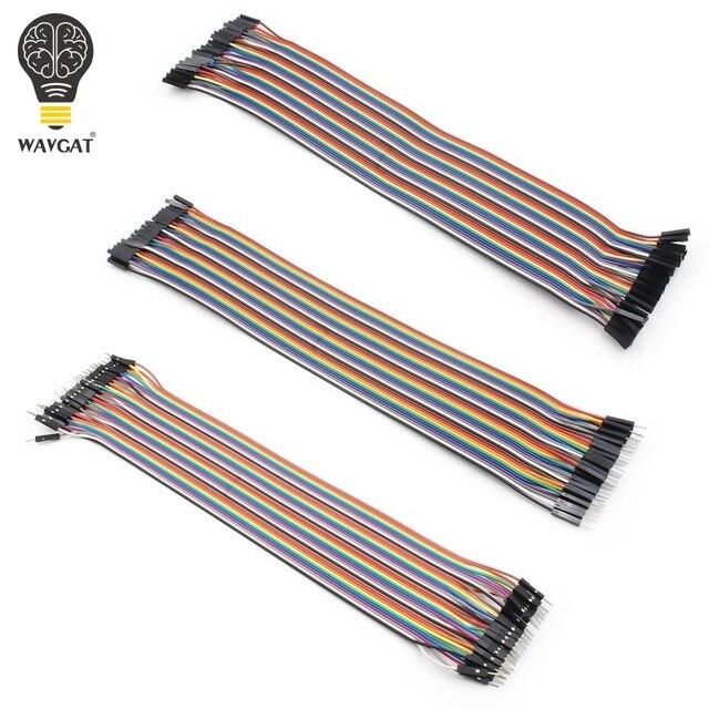 WAVGAT Dupont ligne 120 pièces 20 cm mâle à mâle + mâle à femelle et femelle à femelle câble de raccordement Dupont câble pour Arduino