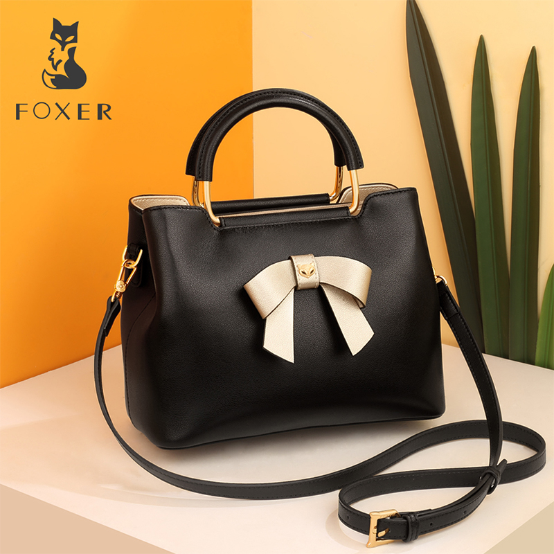FOXER Brand New Fashion Female Winter Temperament Shouleder Bag Lady Fashion Elegant Tote Women Occidental style