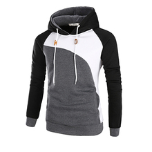 Men autumn Fashion 3 color patchwork Hoodies 2017 New style tops Brand Hoodie polyester popular Mens Hoody size add M-3XL