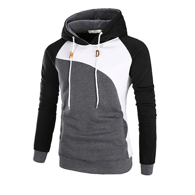 e13796ed Men autumn Fashion 3 color patchwork Hoodies 2017 New style tops Brand  Hoodie Men polyester popular Men's Hoody size add M-3XL