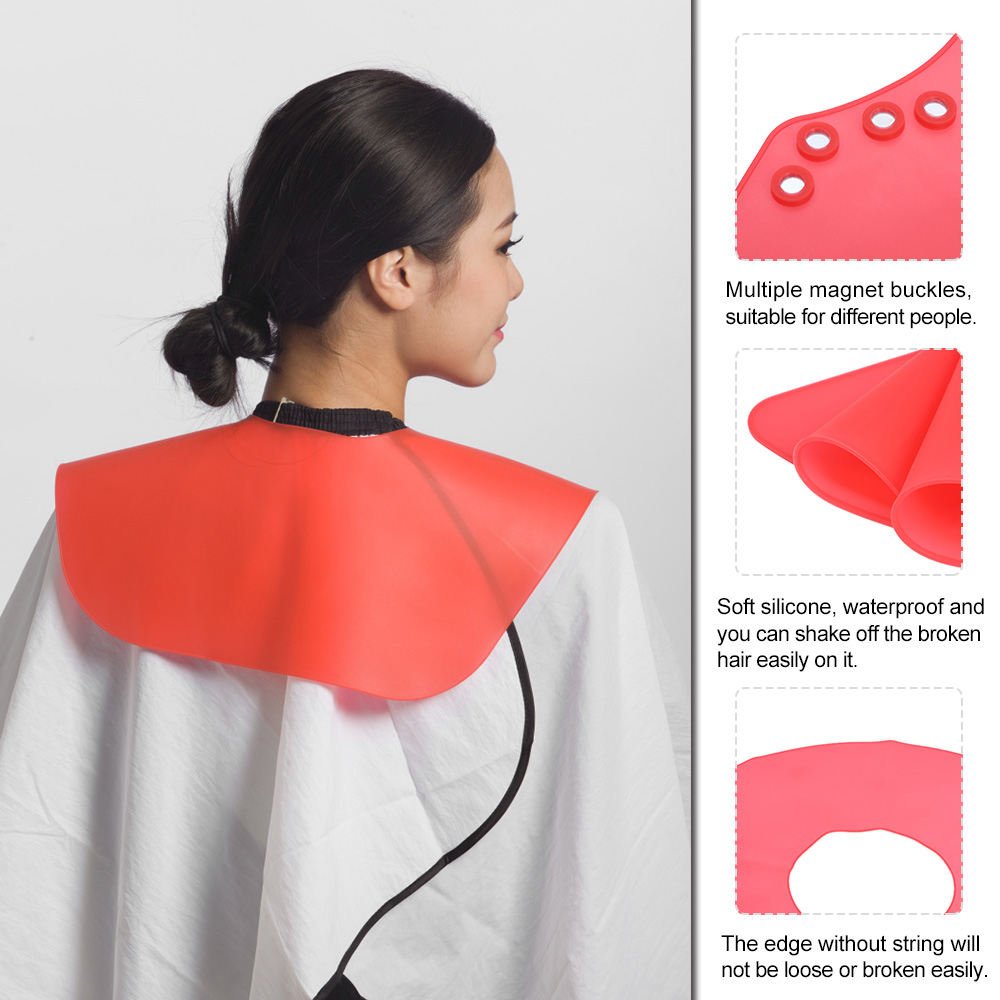 Salon Haircut Neck Cape Wrap Collar Shield Waterproof Silicone Hairdressing  Hair Coloring Cutting Shield with Magnet Buckle