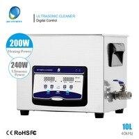 SKYMEN новый ультразвуковой очистки ванны 10L 240 Вт 40 кГц с таймером и нагревателем для очистки механических частей, антикваров, дега