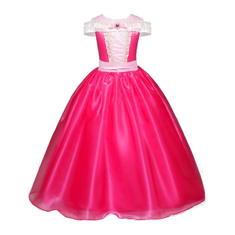 все цены на New Summer Girls Sleeping Beauty Dresses Sleeveless Children Aurora Princess Dresses Cartoon Fancy Kids Party Cosplay Robe Fille онлайн