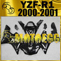 Motoegg Completed Set Fairing Fit YZF-R1 YZF R1 2000 2001 Glossy Black Y10M10 Motorcycle ABS plastic