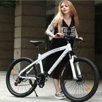 Aoxin 26 дюйма горный велосипед 24/27/30 скорость для взрослых обувь для мужчин и женщин Велосипеды Спорт на открытом воздухе Алюминий двойной дис