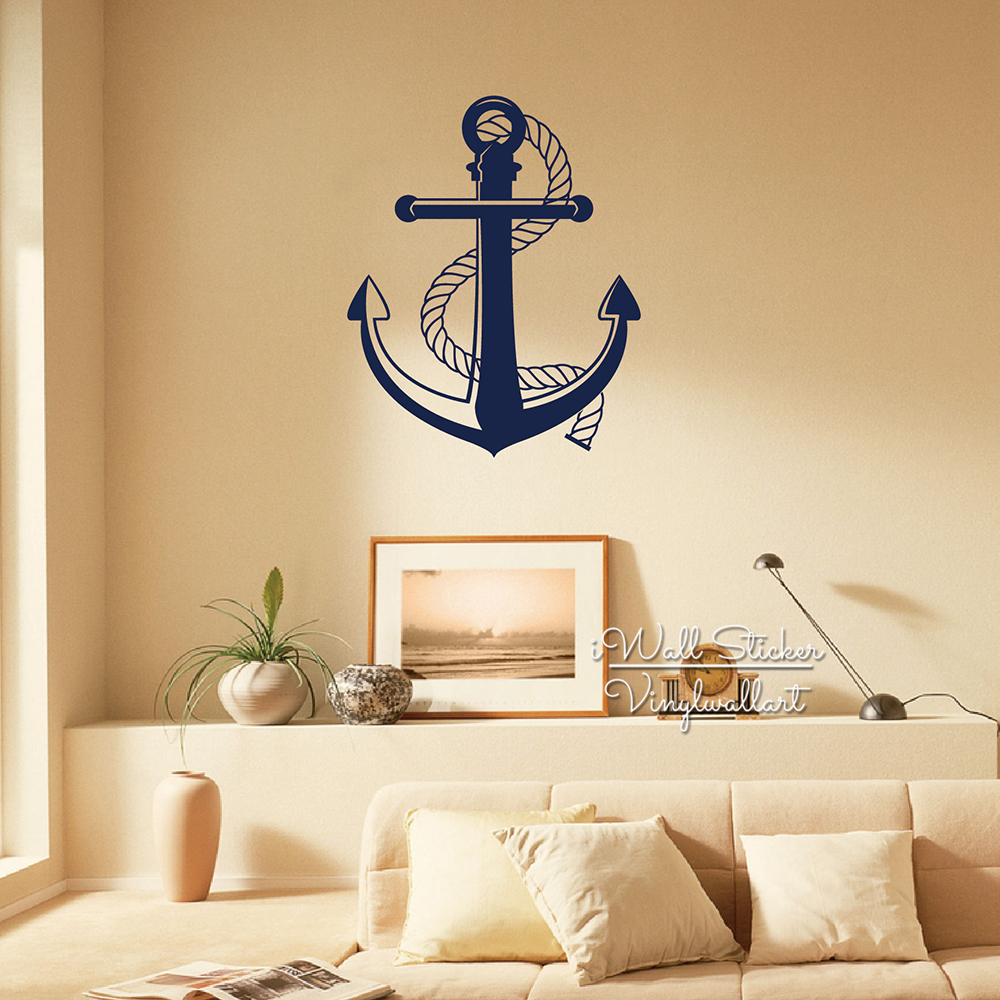 Anchor Wall Sticker Anchor Wall Decal DIY Modern Wall Decor Removable Wall  Decoration Cut Vinyl Stickers M58 In Wall Stickers From Home U0026 Garden On ...