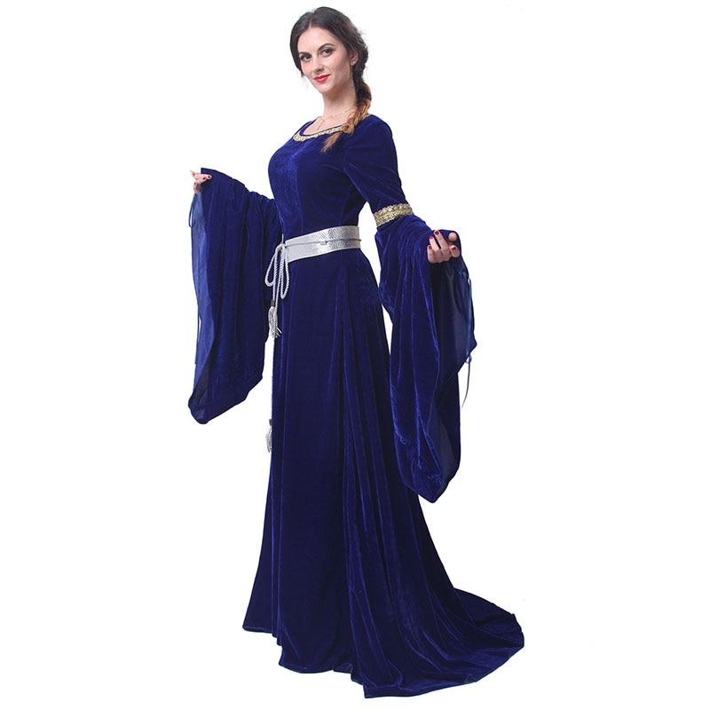 ROLECOS Brand Women Red Blue Medieval Renaissance Gaun Malam Victoria - Kostum karnival - Foto 4