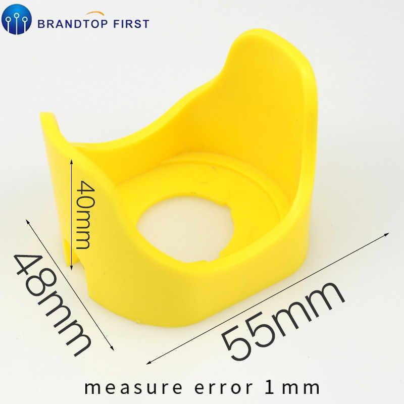 Signe en plastique de commutateur de bouton poussoir d'arrêt d'urgence, diamètre intérieur 22mm bouton d'arrêt d'urgence