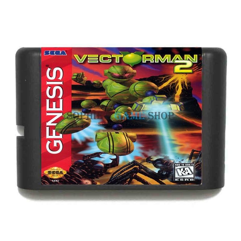Vectorman 2 Game Cartridge 16 bit Game Card For Sega Mega Drive / Genesis System