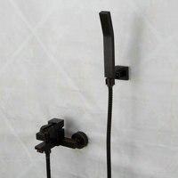 European blackened washing toilet rooms copper black simple shower bath shower faucet handsprays