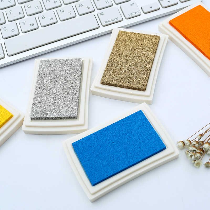 1 PC 15 สี Big หมึก Pad Pad Planner scrapbooking ซิลิโคน STAMP InkPad DIY ไดอารี่บัตรอวยพรอุปกรณ์