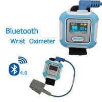 Wrist pulse meter Bluetooth 4.0 pulse oximeter SPO2 oximetro de dedo portable oxygen device pulsioximetro for IOS & Android