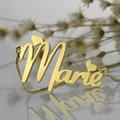 Оптовая Золото Табличка Ожерелье Персонализированные Милые Сердцу Стиль Имя Ожерелье с Коробкой Цепи Уникальный Подарок На День Рождения для Нее