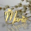Oro al por mayor Collar Placa de Identificación Personalizada Nombre Collar con Cadena de Caja Única Del Estilo Lindo Del Corazón Regalo de Cumpleaños para Ella