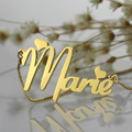 Wholesale Gold Nameplate Necklace Personalized Cute Heart Style Name Necklace with Box Chain Unique Birthday Gift for Her