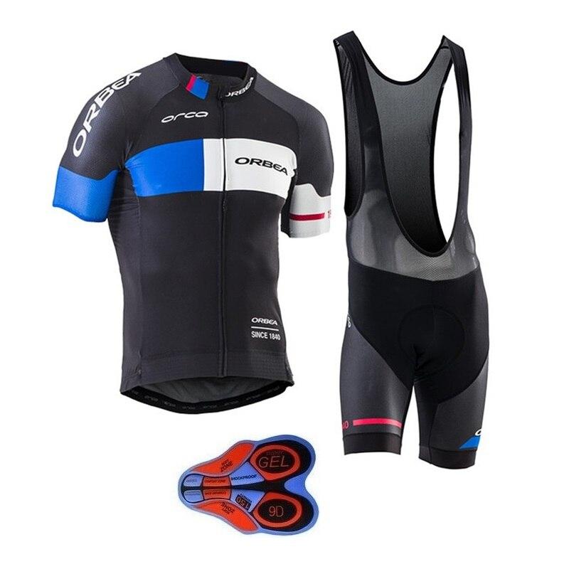 Team ORBEA Radfahren jersey sets 2018 Kurzen ärmeln Sommer Atmungs Radfahren Kleidung Pro MTB fahrrad trikots Ropa Ciclismo 9D GEL