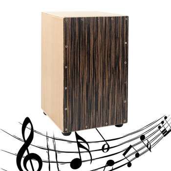 Ebony Wood Mano Percussion Cajons Drum Flamenco Drum Box Maple Veneer Finish Adults Musical Percussion Instruments Entertainment