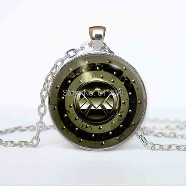 USs movie Agent of S H I E L D SHIELD Pendant Necklace 78cm chain 1pcs