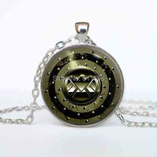 USs movie Agent of S.H.I.E.L.D, SHIELD Pendant Necklace 78cm chain 1pcs/lot steampunk vintage antique silver mens womens 2016