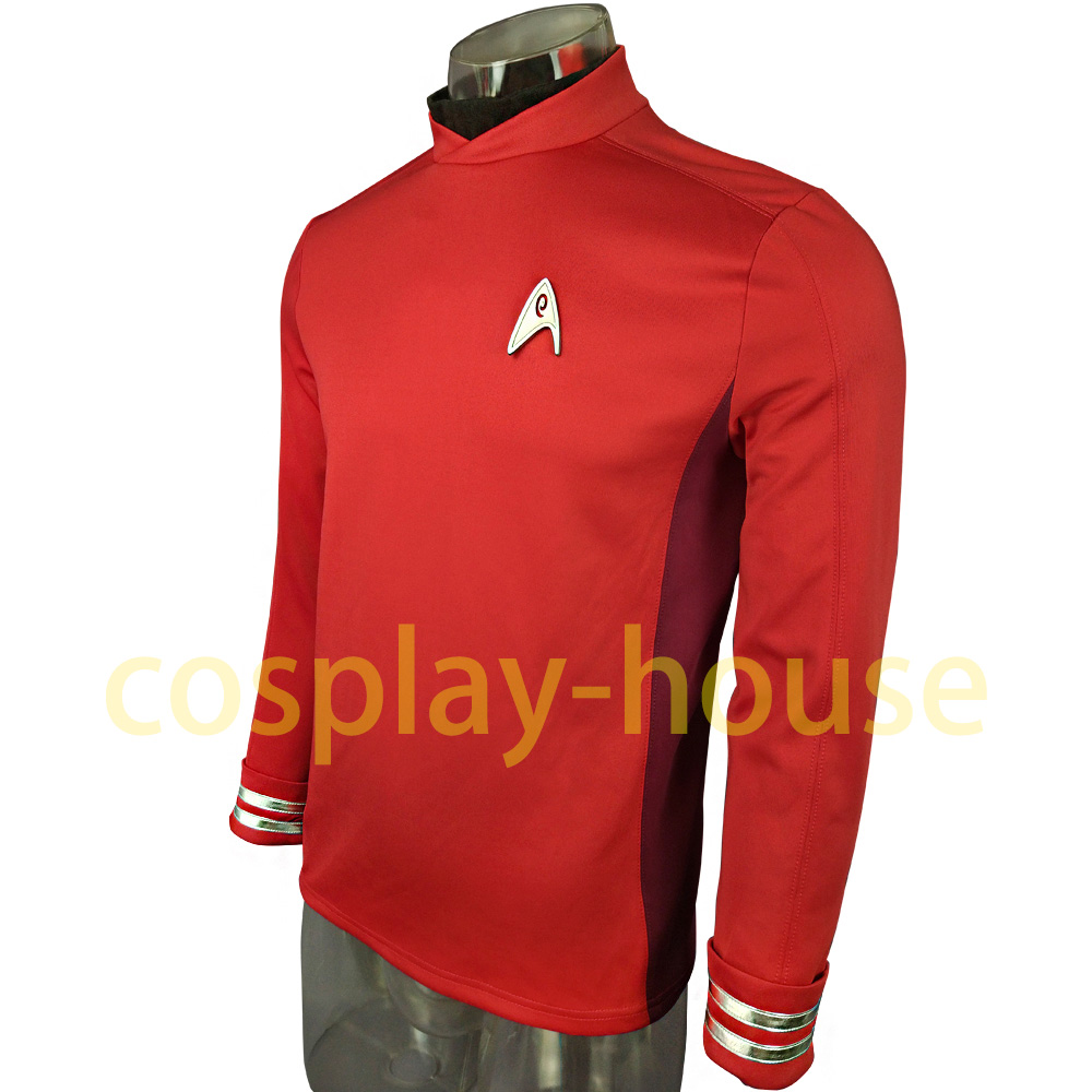 Cosplay Star Trek Costume Beyond Red Captain Kirk Uniform Spock Blue Uniform Scotty Red Halloween party Prop (1)