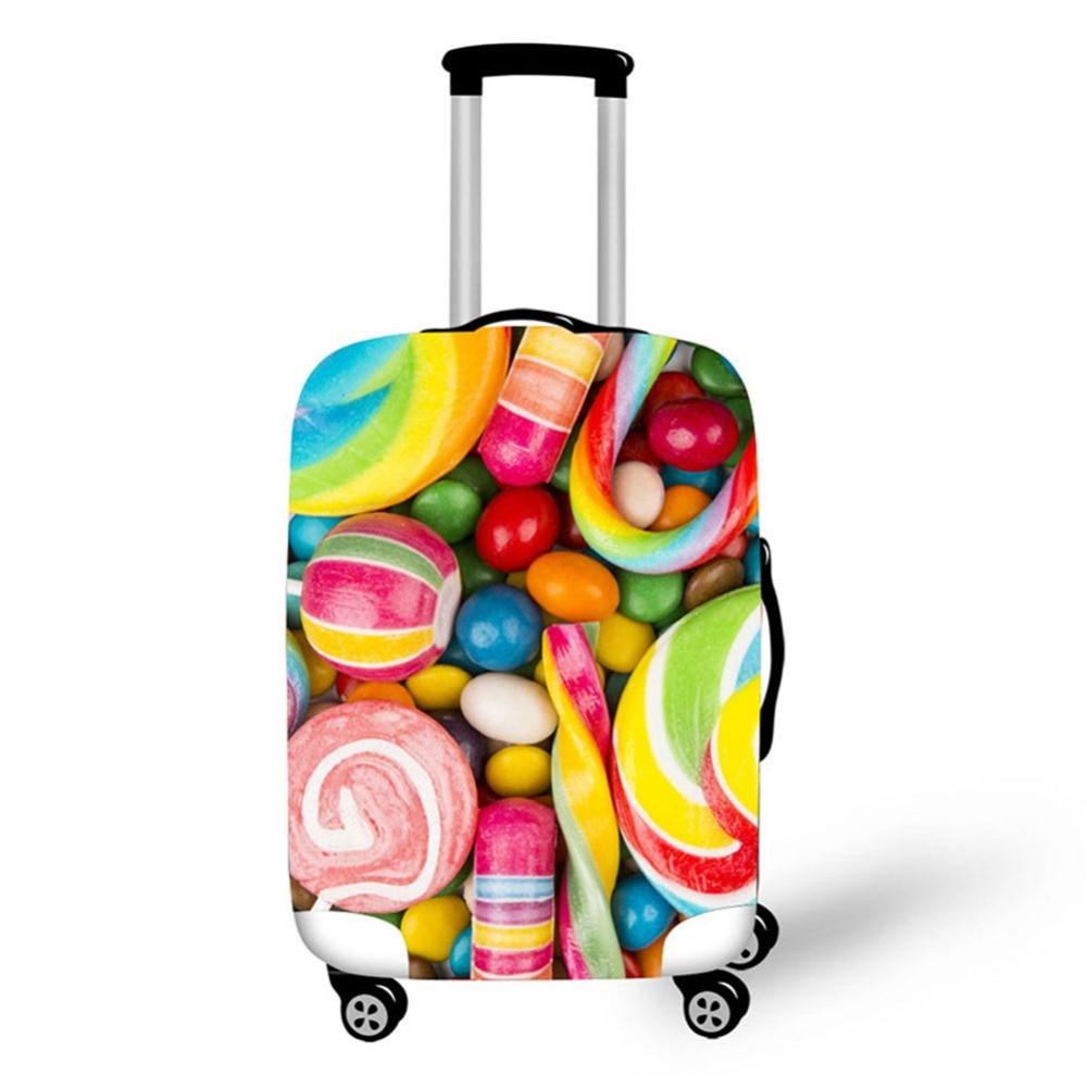 3D Cake mat mönster Skriv ut rese bagage resväska skyddshölje - Resetillbehör - Foto 2
