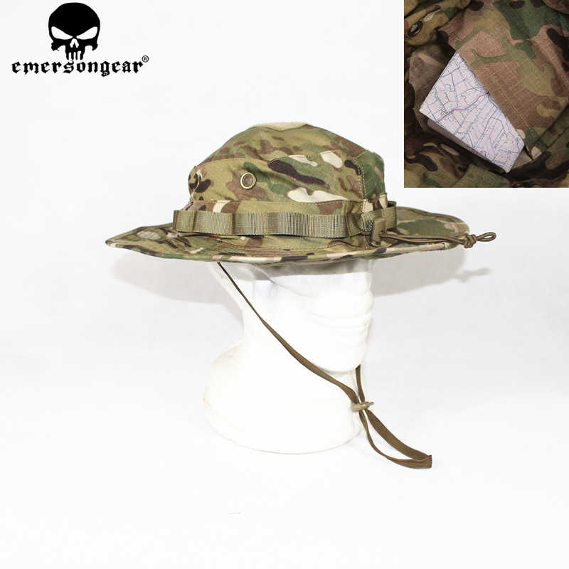 EMERSONGEAR Tactical Boonie Hat W MP Army Hunting Hat Boonie Cap Airsoft Camouflage  Hunting Sunshine 2556c034d728