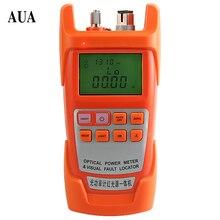 AUA-9AC All-in-one Fibra medidor de potencia óptica-70 a + $ number dbm y 30 mw 20 km De Fibra Óptica Cable Tester Localizador Visual de Fallos