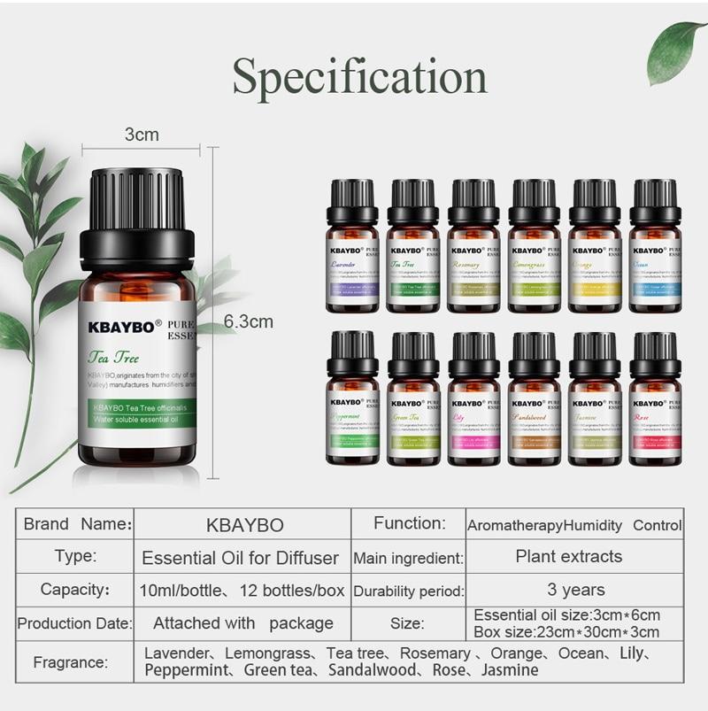 Pack de 6 ou 12 huiles essentielles naturelles pour aromathérapie (6 ou 12*10 ml)