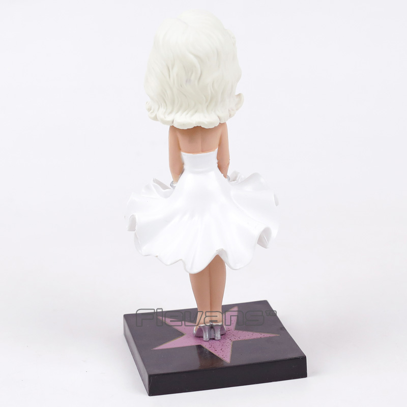 Image 2 - Marilyn Monroe Bobble Head Doll Vinyl Action Figure Collection Toy-in Action & Toy Figures from Toys & Hobbies