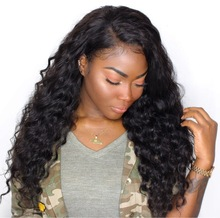 CARA Loose Wave 250% Tetthet Lace Front Human Hair Parykker Brazilian Remy Hair Pre Plukket Natural Hairline With Baby Hair
