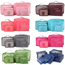 6 Pieces\set Oxford packing cube  Waterproof Travel Bag One set Large Capacity Of Clothing Sorting Organize