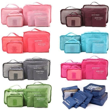 6 Pieces\set Oxford packing cube  Waterproof Travel Bag One set Large Capacity Of Clothing Sorting Organize - discount item  26% OFF Travel Bags