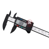 150mm 6 LCD Digital Electronic Carbon Fiber Vernier Caliper Gauge Micrometer Electronic Measuring Hand Tool Set