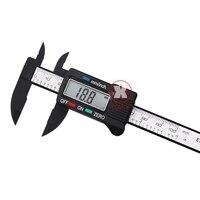 150mm 6 LCD Digital Electronic Carbon Fiber Vernier Caliper Gauge Micrometer Electronic Measuring Hand Tool Set