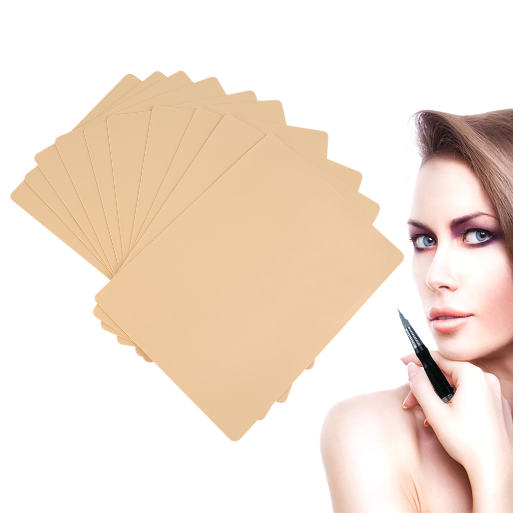 10pcs / 5pcs Permanent Makeup Eyebrow Lips 20 X 15cm Blank Tattoo Practice Skin Sheet For Needle Machine Supply Kit