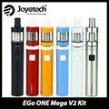 Original Joyetech eGo ONE Mega Kit 2300 mAh ego um mega bateria V2 Atomizador Capacidade de 4.0 ml e líquido-líquido tanque Vaporizador E-cig Kit