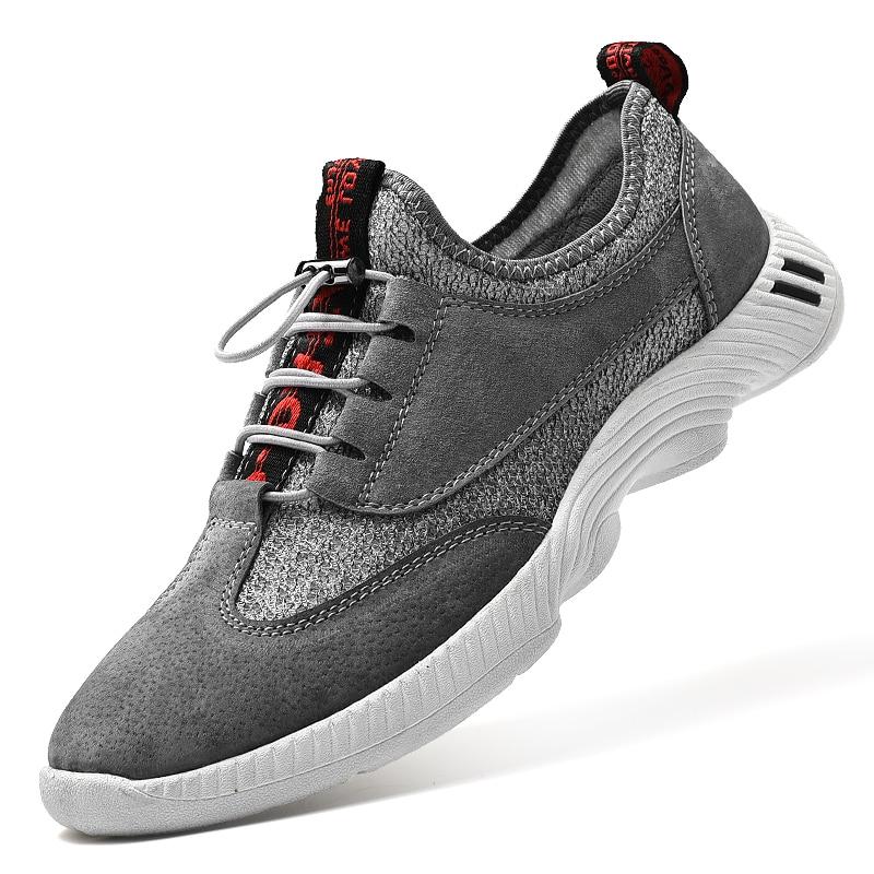 Respirant Souples gris Hommes Adultes Confortable Noir Formateurs Nouveau Zapatos Tenis Plat Mode Casual Feminino Hombres Chaussures 4n158zqw